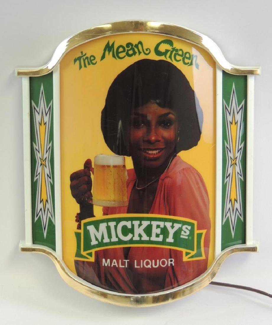 """Vintage Mickey's """"The Mean Green"""" Advertising Light Up"""