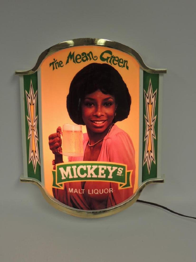 "Vintage Mickey's ""The Mean Green"" Advertising Light Up - 2"