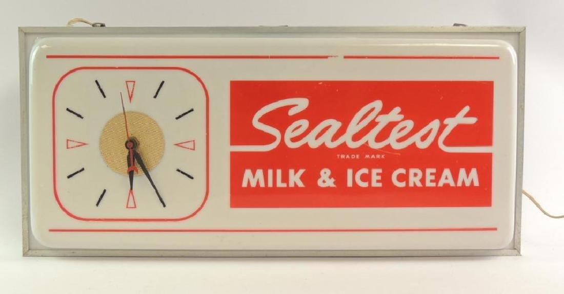 Vintage Sealtest Milk and Ice Cream Advertising Light