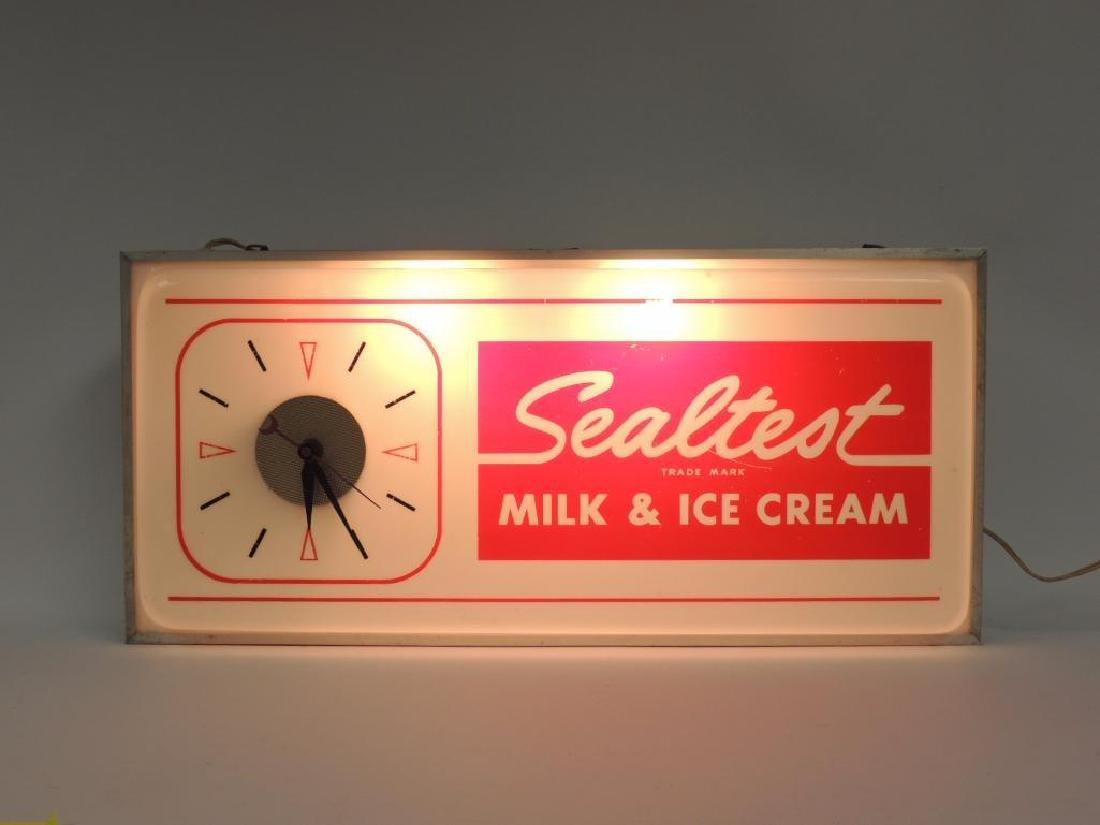 Vintage Sealtest Milk and Ice Cream Advertising Light - 2