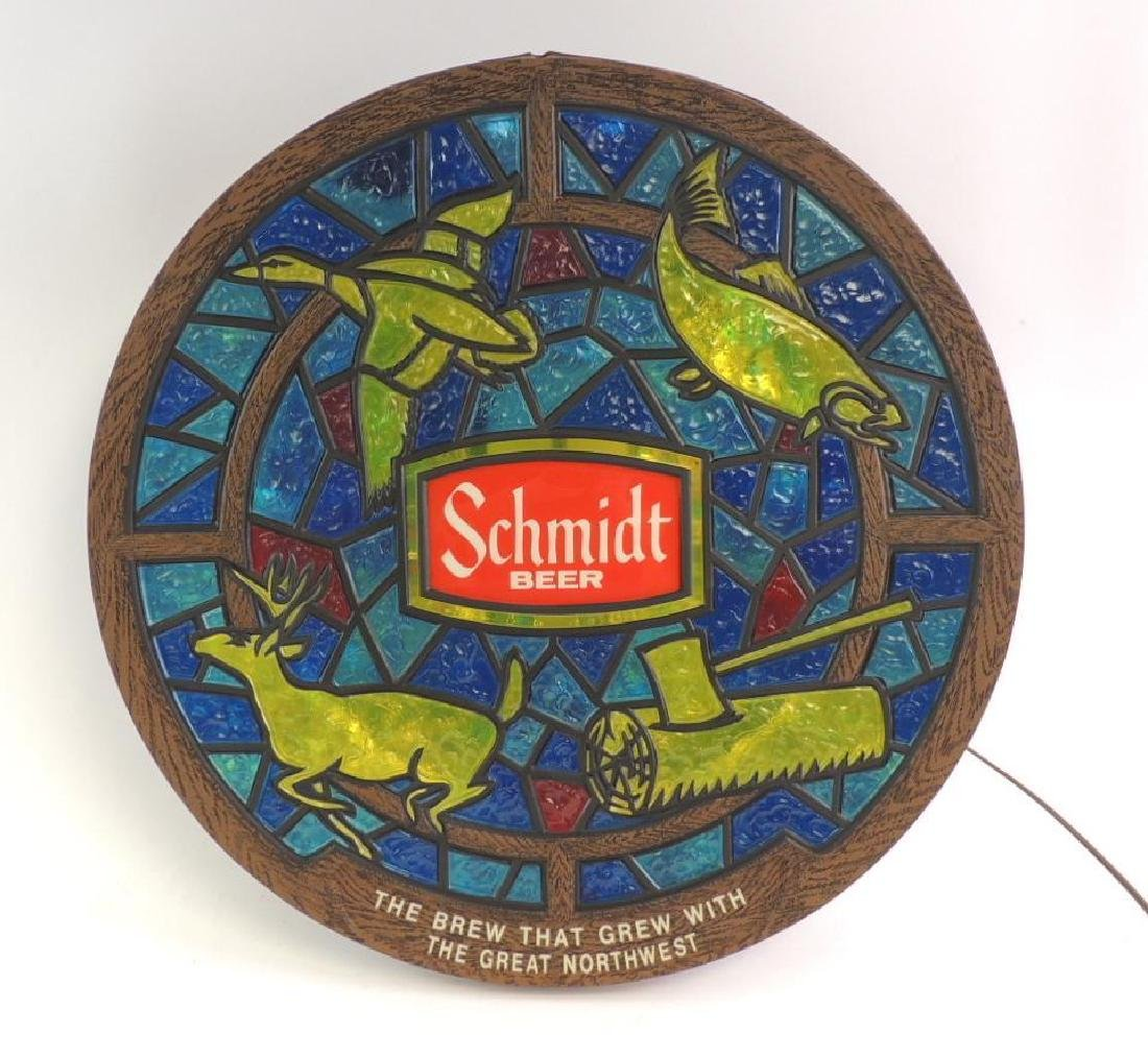 Vintage Schmidt Beer Advertising Light Up Beer Sign