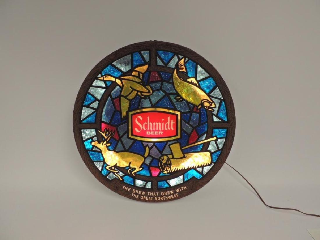 Vintage Schmidt Beer Advertising Light Up Beer Sign - 2
