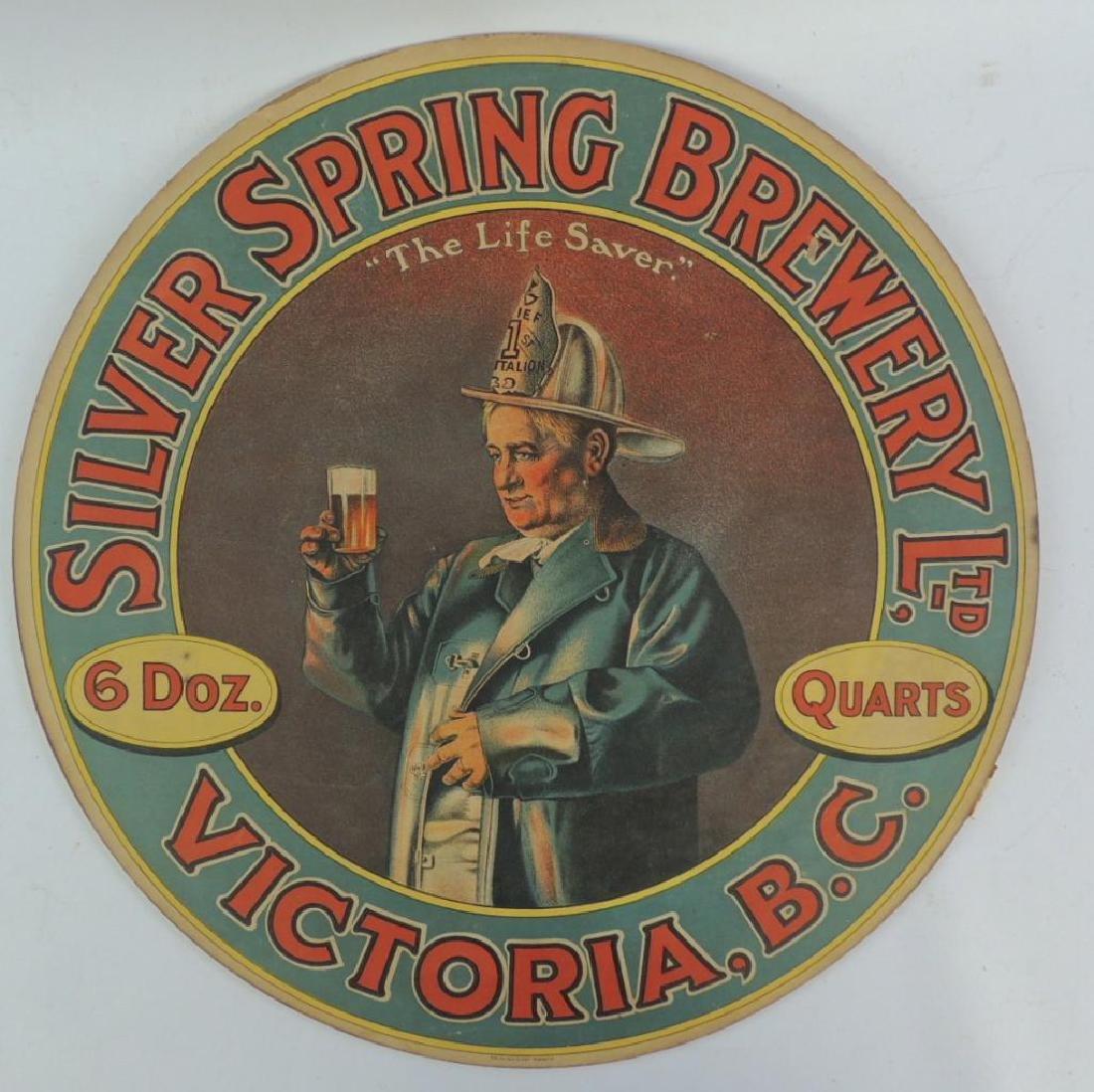 "Vintage Silver Spring Brewery Ltd ""Firemen"" Advertising"