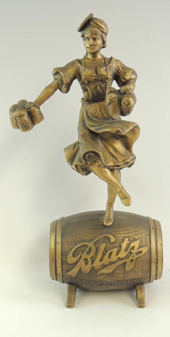 Vintage Blatz Beer Girl Advertising Statue