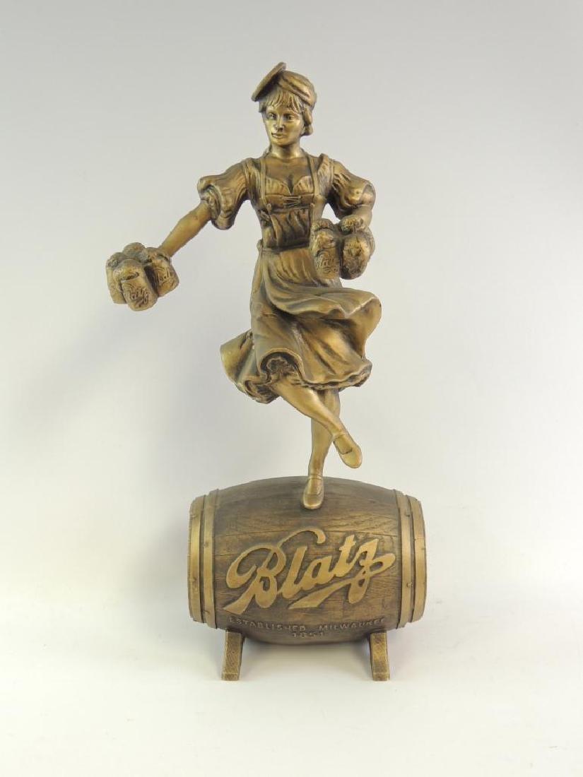 Vintage Blatz Beer Girl Advertising Statue - 2
