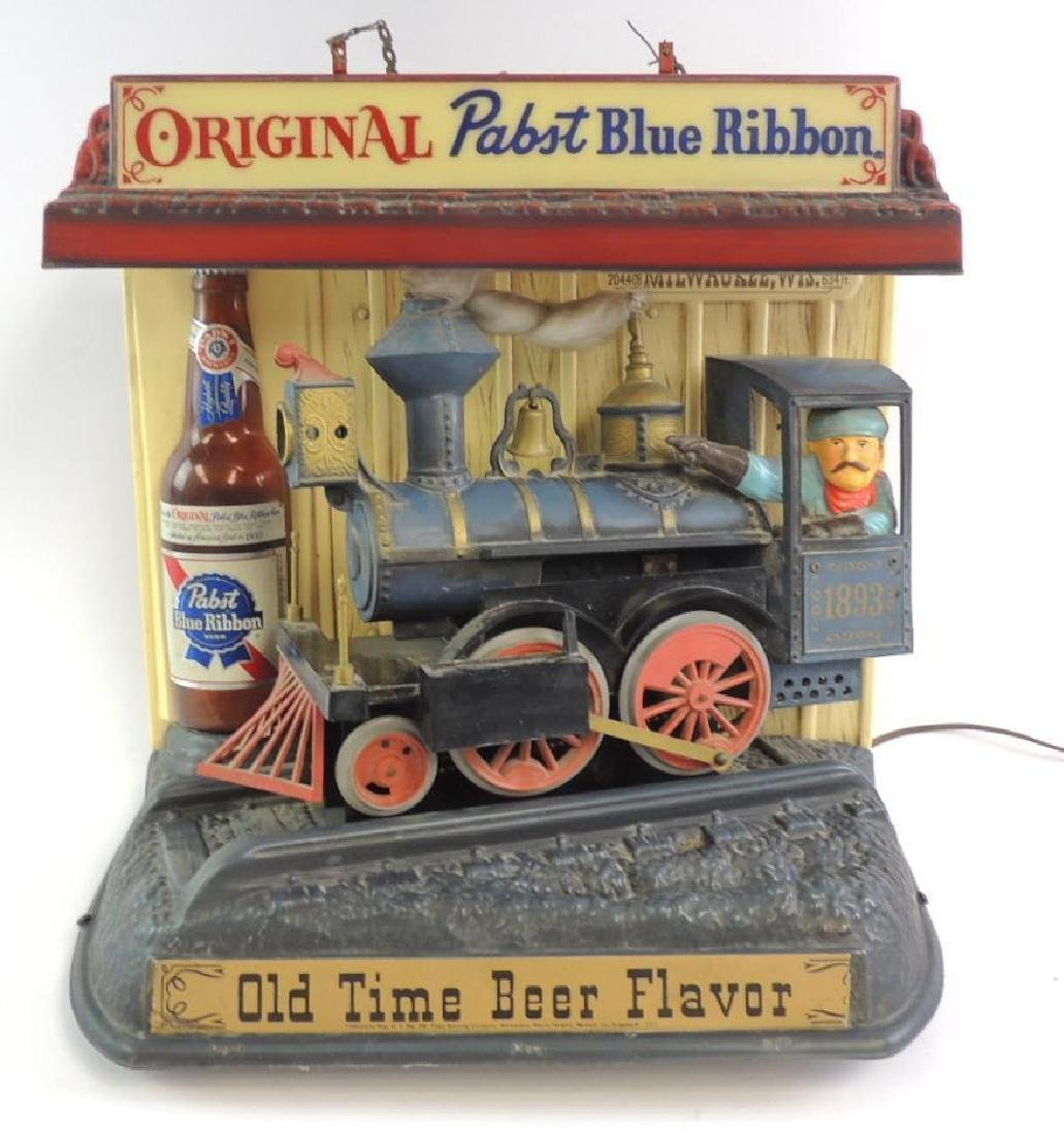 Vintage Pabst Blue Ribbon Advertising Motion Light Up