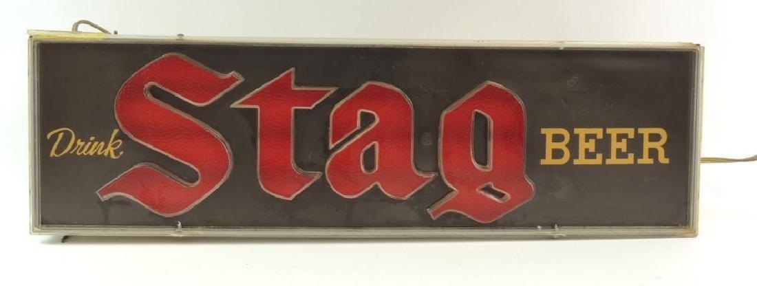 Vintage Stag Beer Advertising Light Up Beer Sign