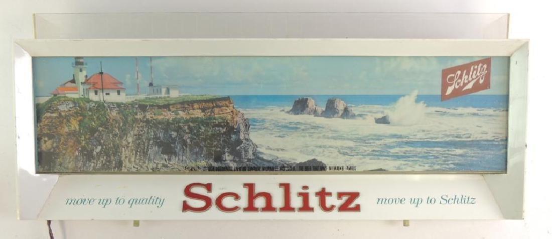 Vintage Schlitz Advertising Light Up Beer Sign