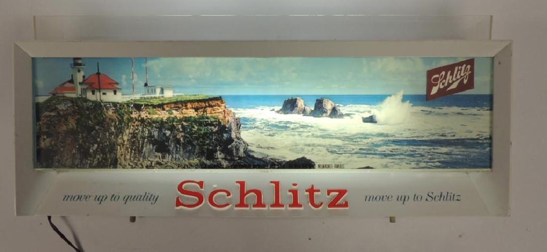 Vintage Schlitz Advertising Light Up Beer Sign - 2