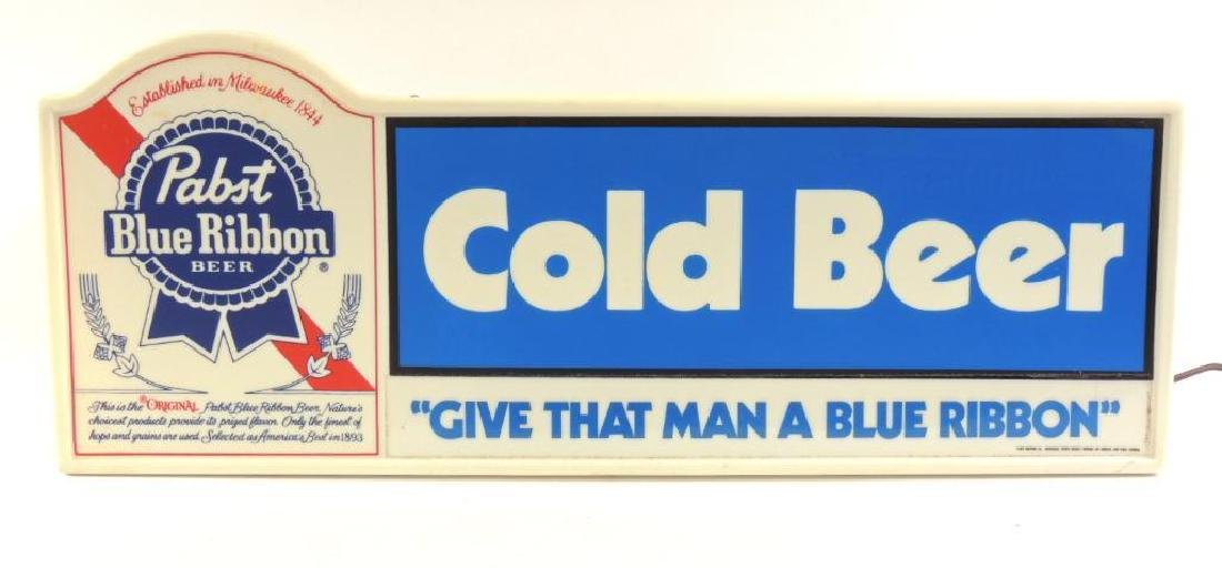 Vintage Pabst Blue Ribbons Advertising Light Up Beer