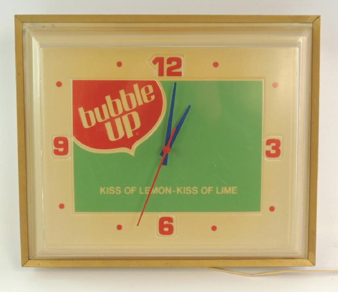Vintage Bubble Up Soda Advertising Light Up Clock