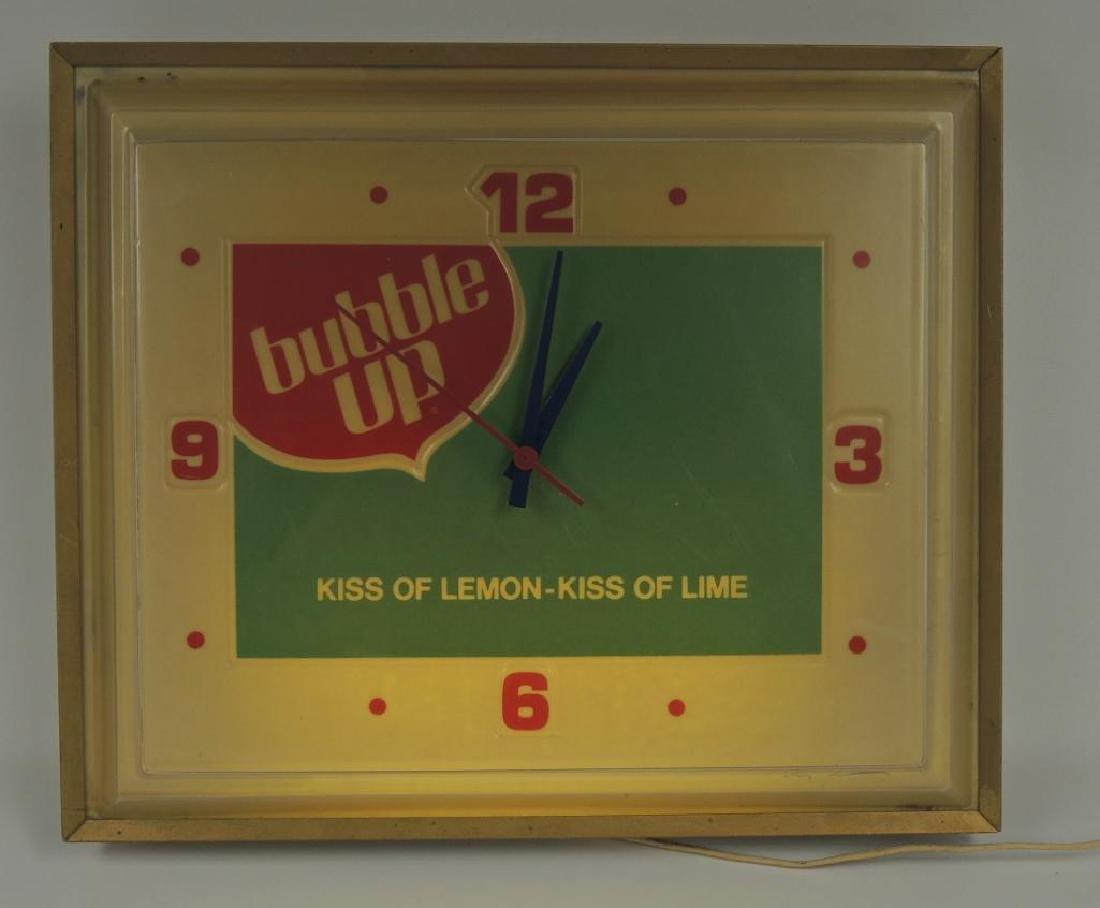 Vintage Bubble Up Soda Advertising Light Up Clock - 2