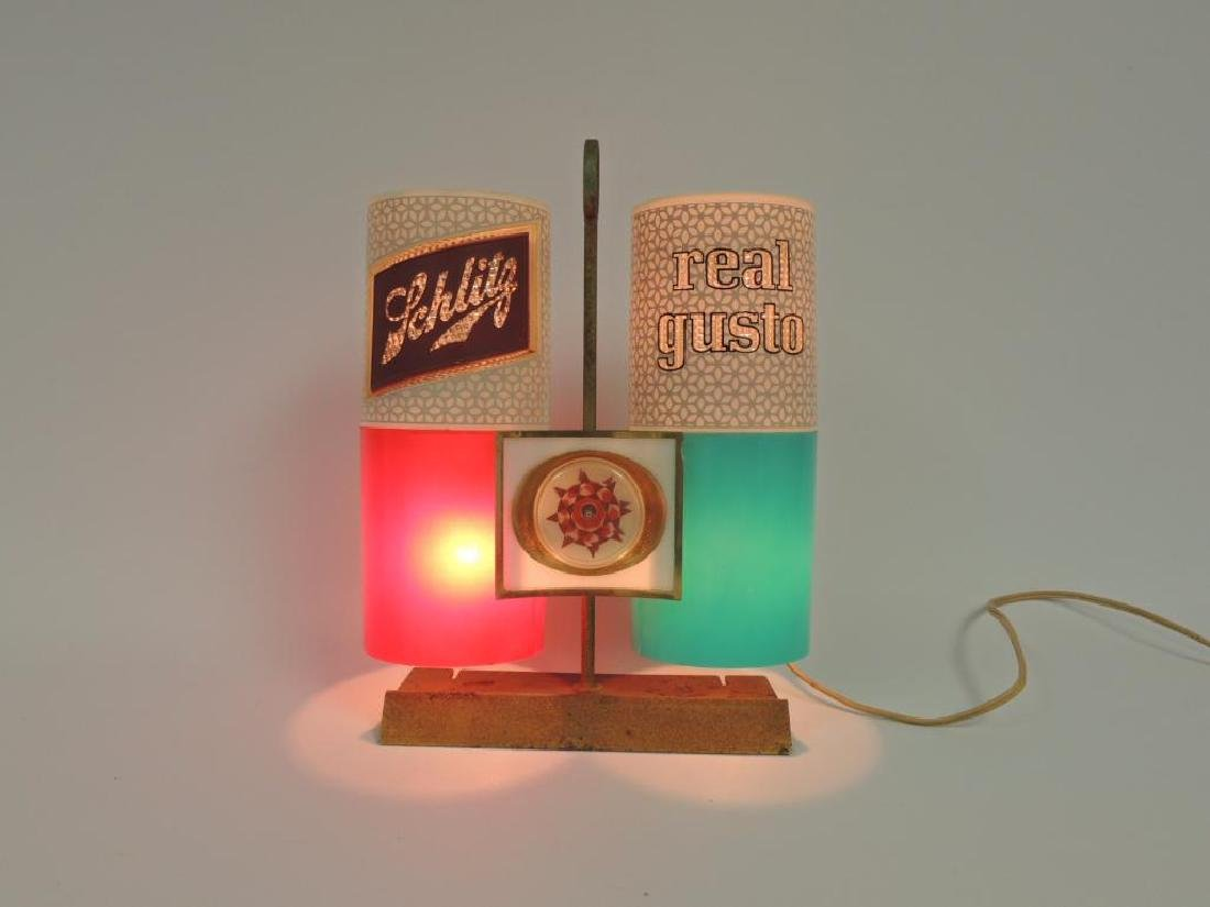 "Vintage Schlitz ""Real Gusto"" Advertising Light Up - 2"