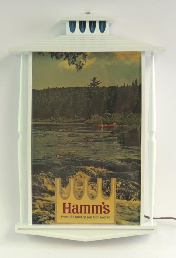 Vintage Hamm's Beer Advertising Light Up Beer Sign