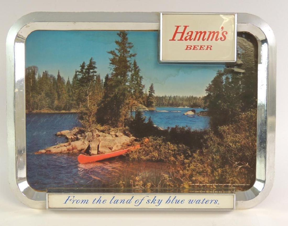 Vintage Hamm's Beer Advertising Counter Top Beer Sign