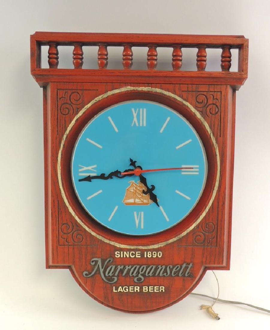 Vintage Narrafansett Lager Beer Advertising Light Up