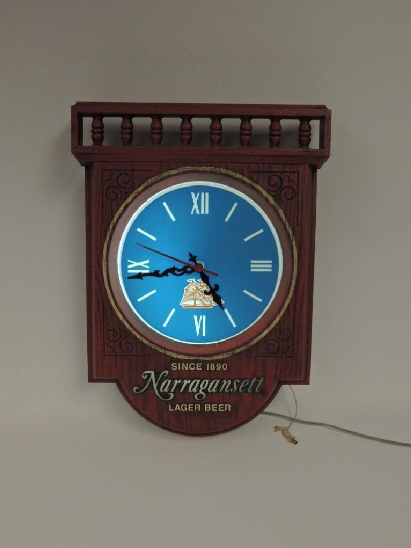 Vintage Narrafansett Lager Beer Advertising Light Up - 2