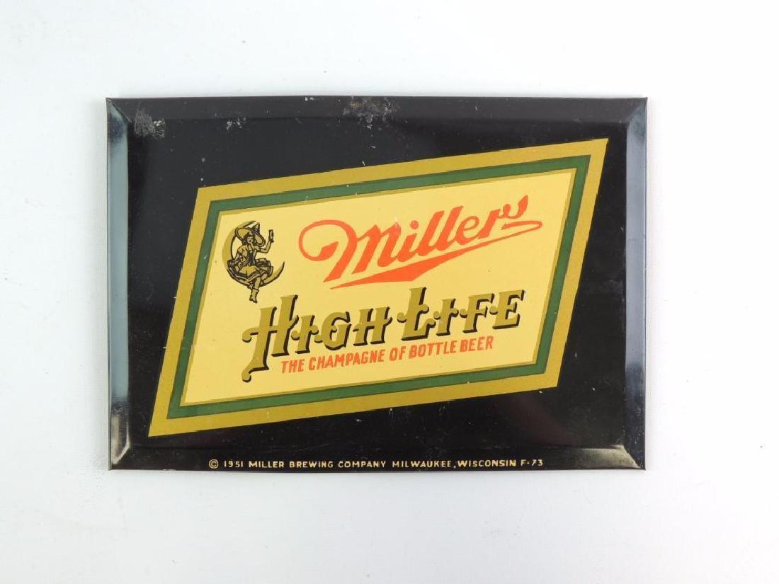 Vintage 1951 Miller High Life Advertising Beer Sign