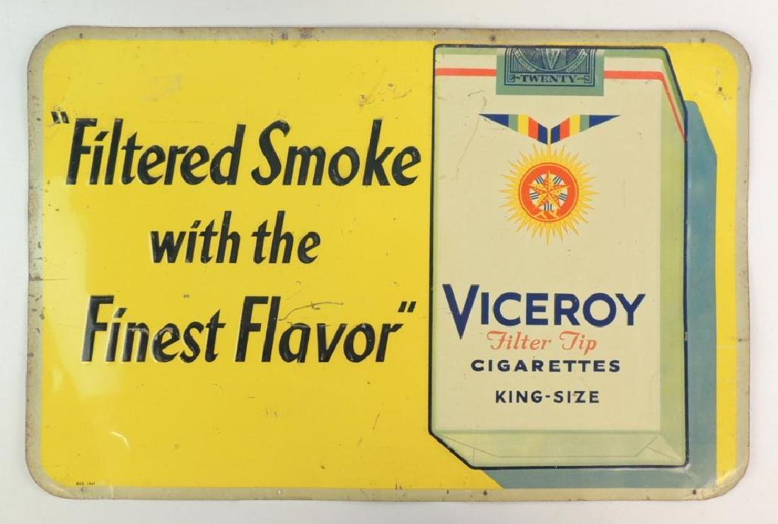Vintage Victory Filter Tip Cigarettes Advertising Tin