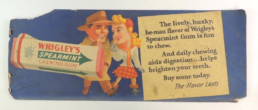 Vintage Wrigley's Spearmint Chewing Gum Cardboard