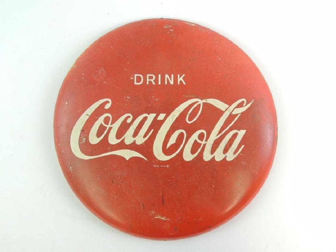 Vintage Coca-Cola Advertising Button Sign