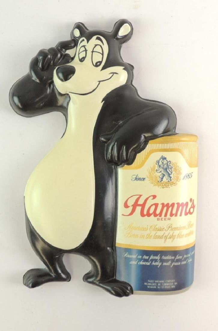 Vintage Hamm's Beer Advertising Vacu Form Sign