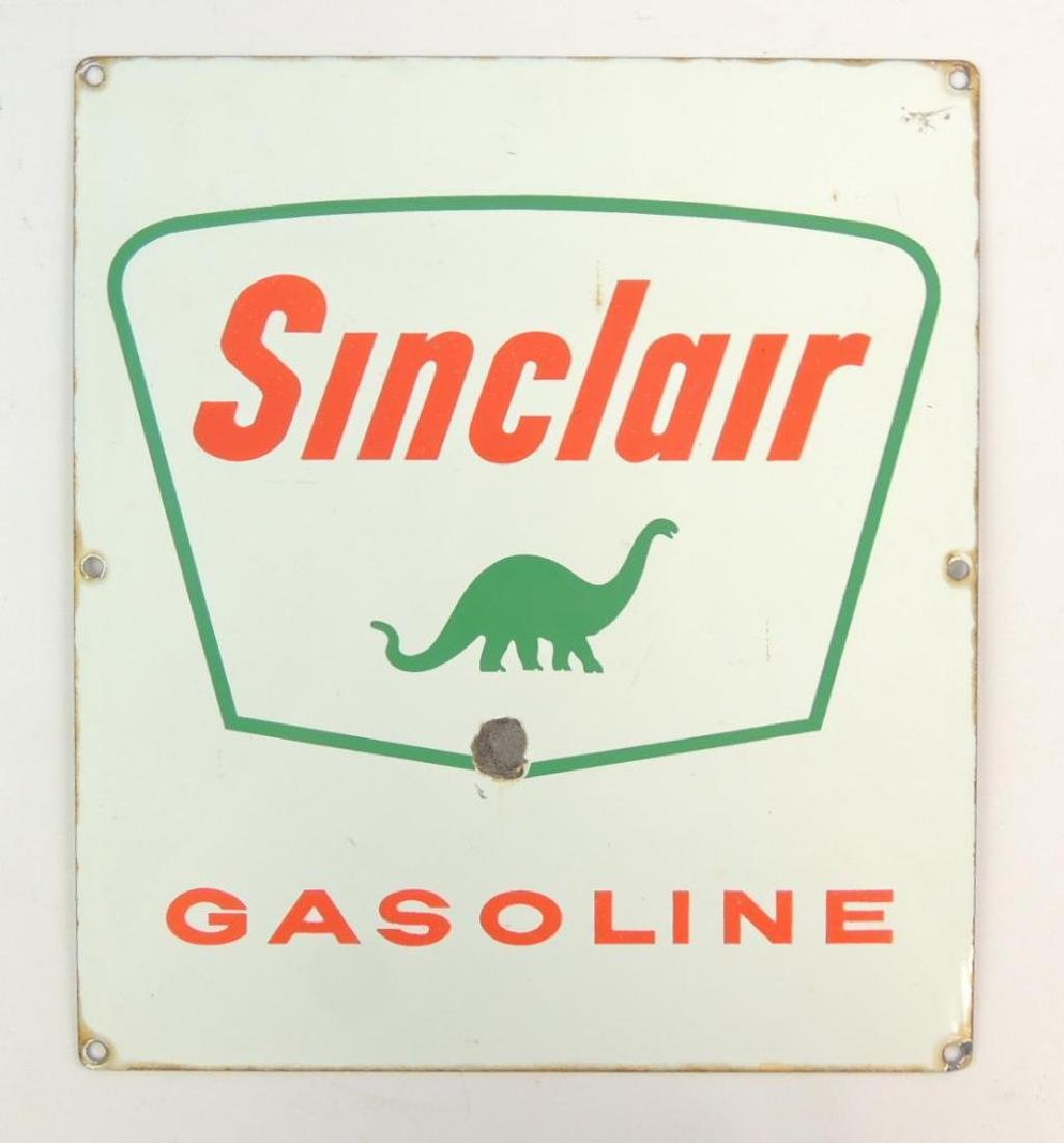 Vintage Sinclair Gasoline Advertising Porcelain Sign