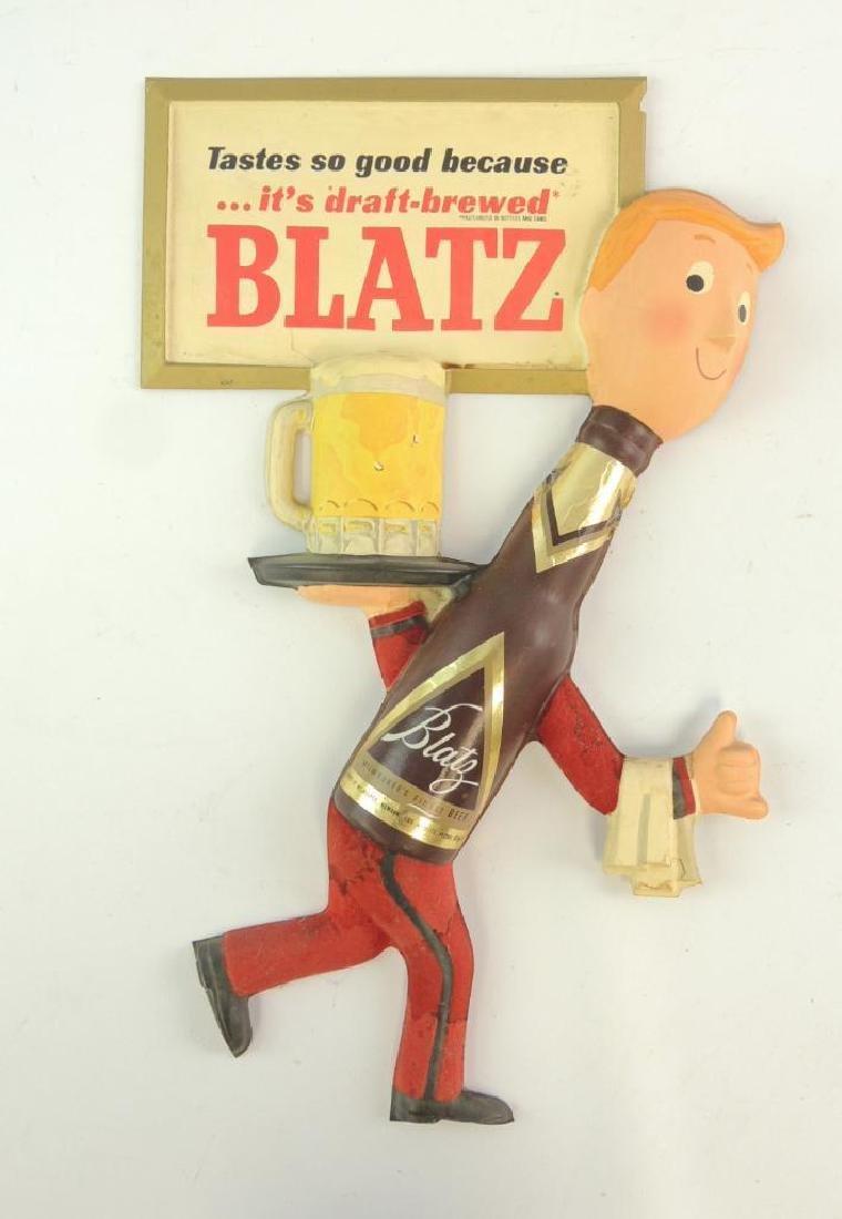 Vintage Blatz Advertising Vacu Form Beer Sign