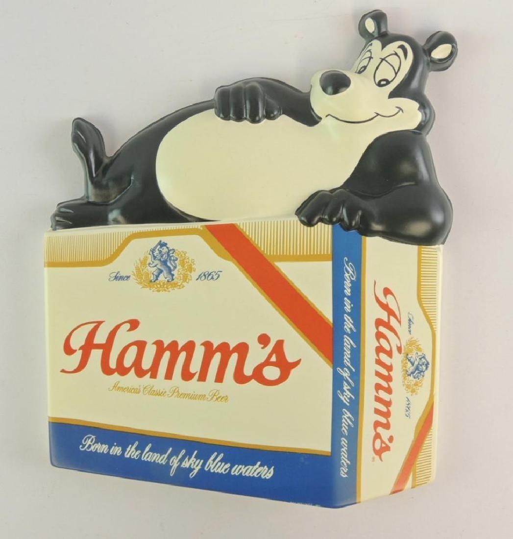 Vintage Hamm's Beer Advertising Vacu Form Sign