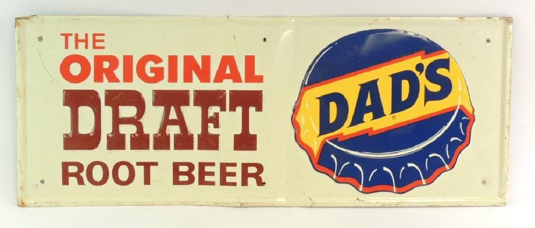 Vintage Dad's Root Beer Advertising Metal Sign