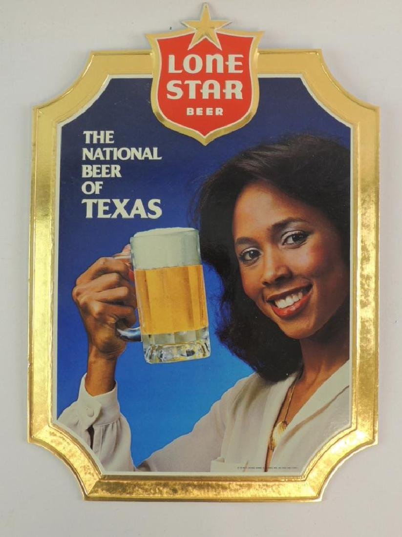 Vintage Lone Star Beer Advertising Cardboard Sign