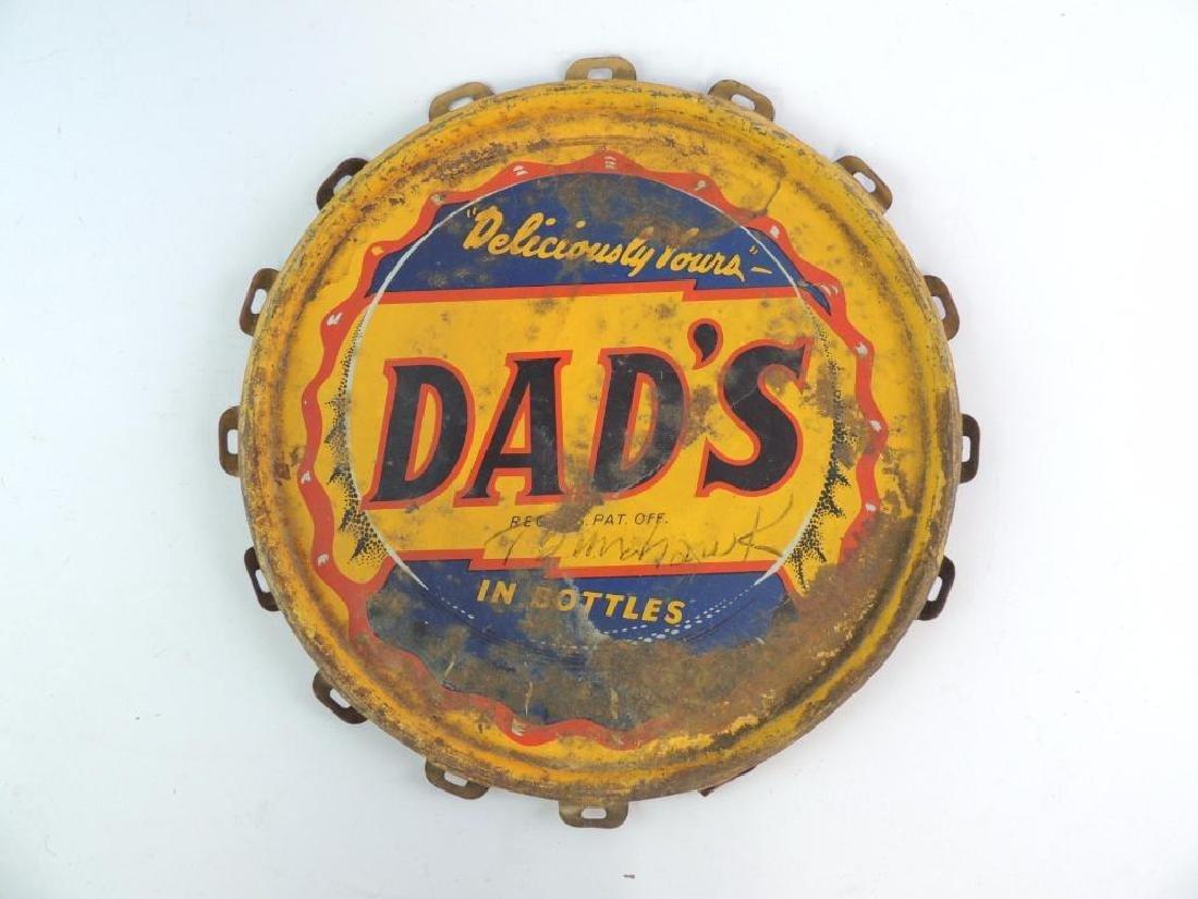 Vintage Dad's Root Beer Advertising Bucket Lid