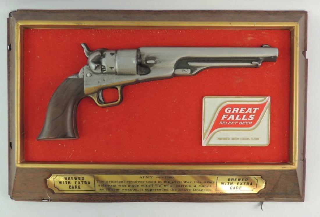 """Vintage Great Falls """"Army .44 1860"""" Advertising Beer"""