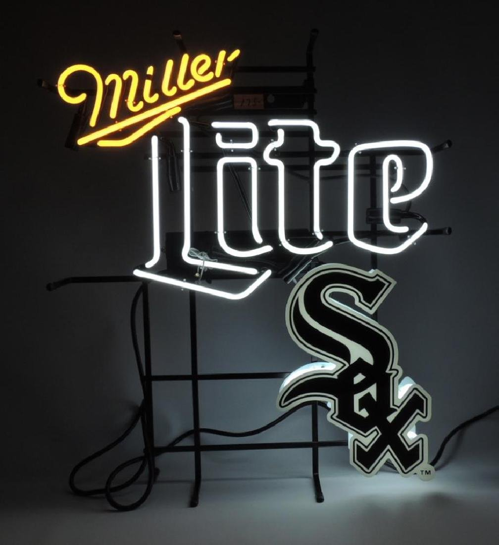 Chicago White Sox Miller Lite Advertising Neon Sign