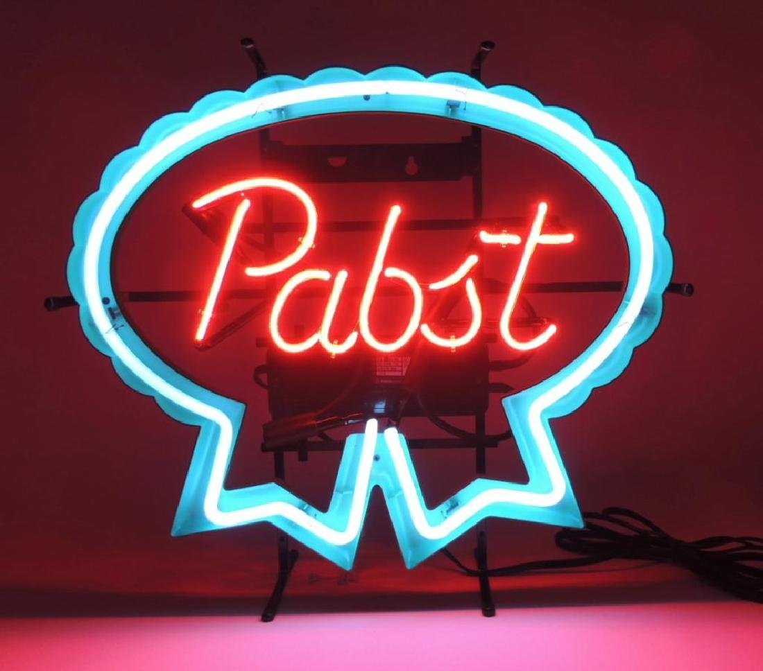 Pabst Blue Ribbon Advertising Neon Sign