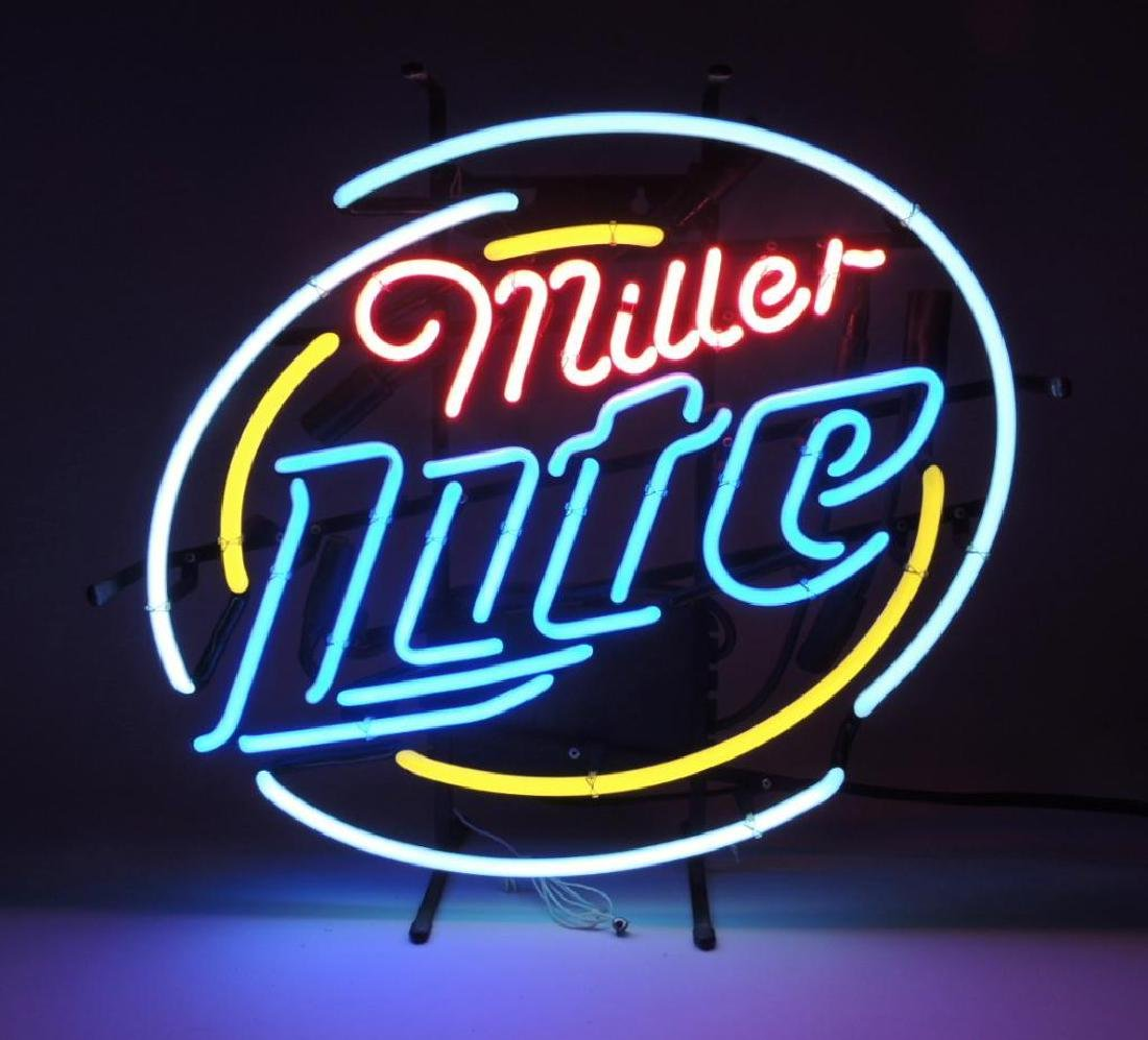 Miller Lite Advertising Neon Sign