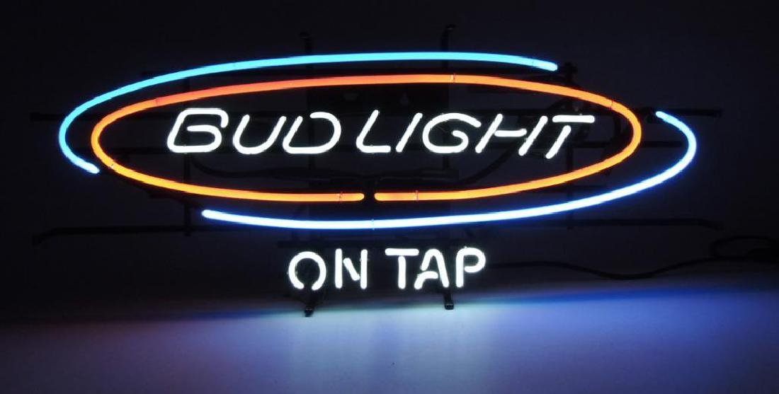 "Bud Light ""On Tap"" Advertising Neon Sign"