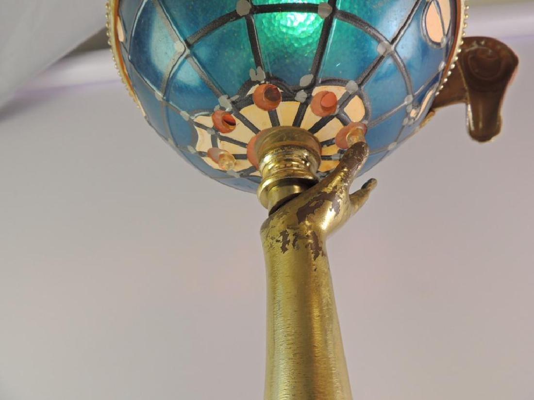 Vintage Schlitz Lady Holding Globe Advertising Light Up - 7
