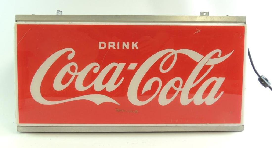 Vintage Coca-Cola Advertising Light Up Sign
