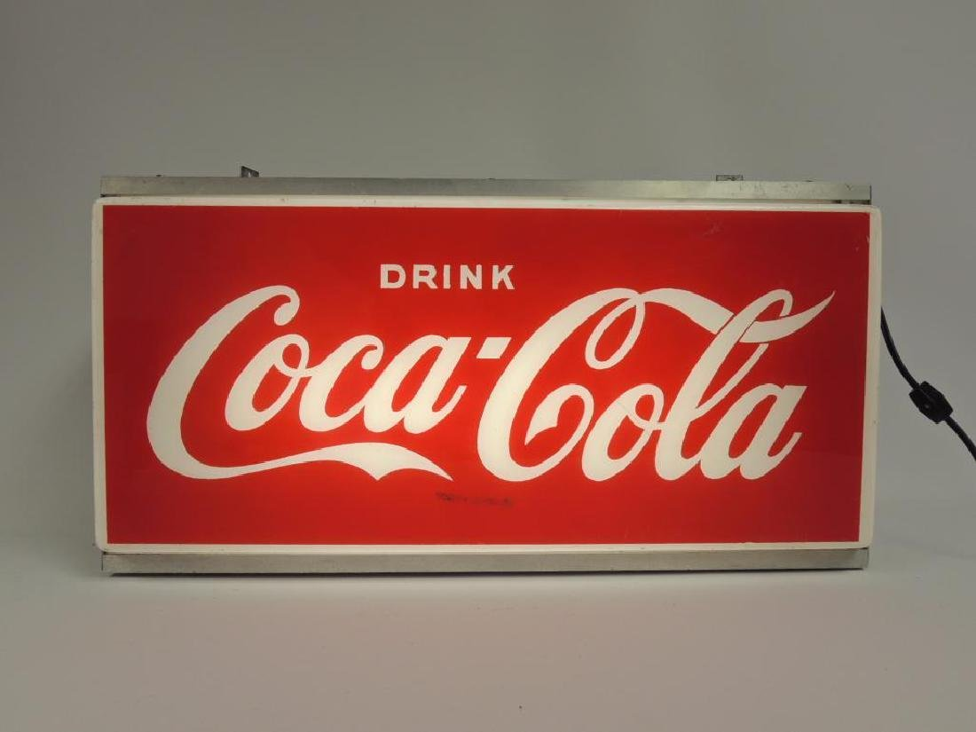 Vintage Coca-Cola Advertising Light Up Sign - 2