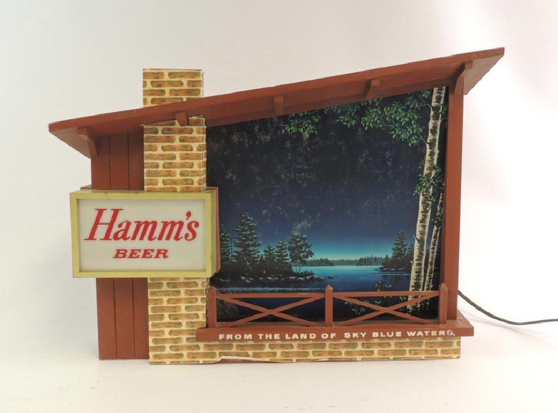"""Vintage Hamm's Beer """" Starry Night"""" Advertising Light"""
