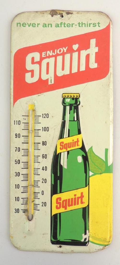 Vintage Squirt Advertising Thermometer