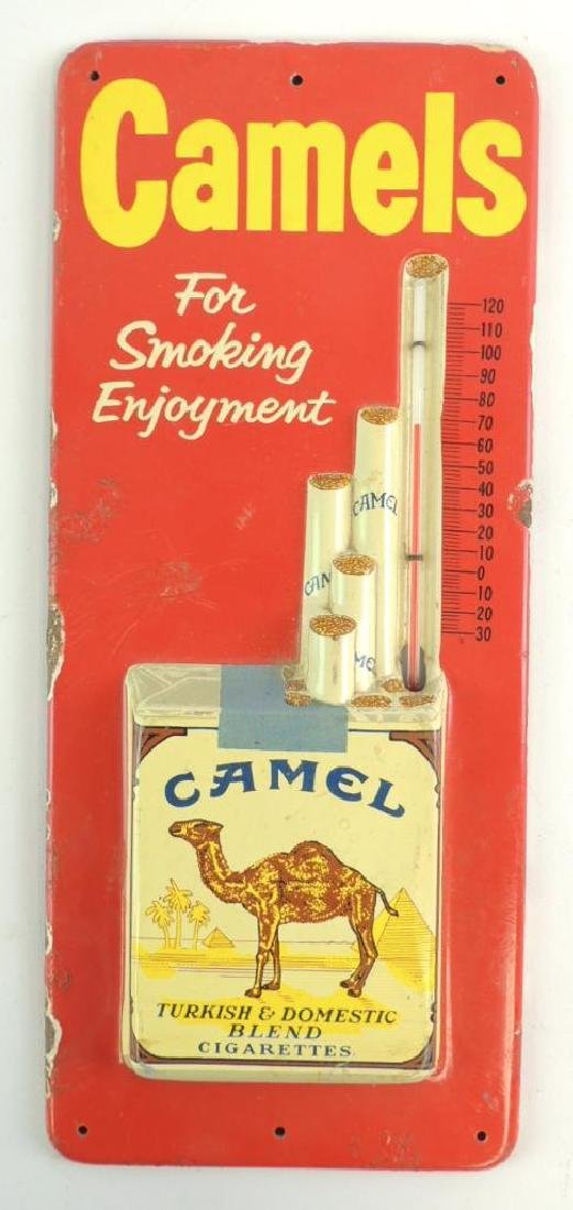 Vintage Camels Cigarettes Advertising Thermometer