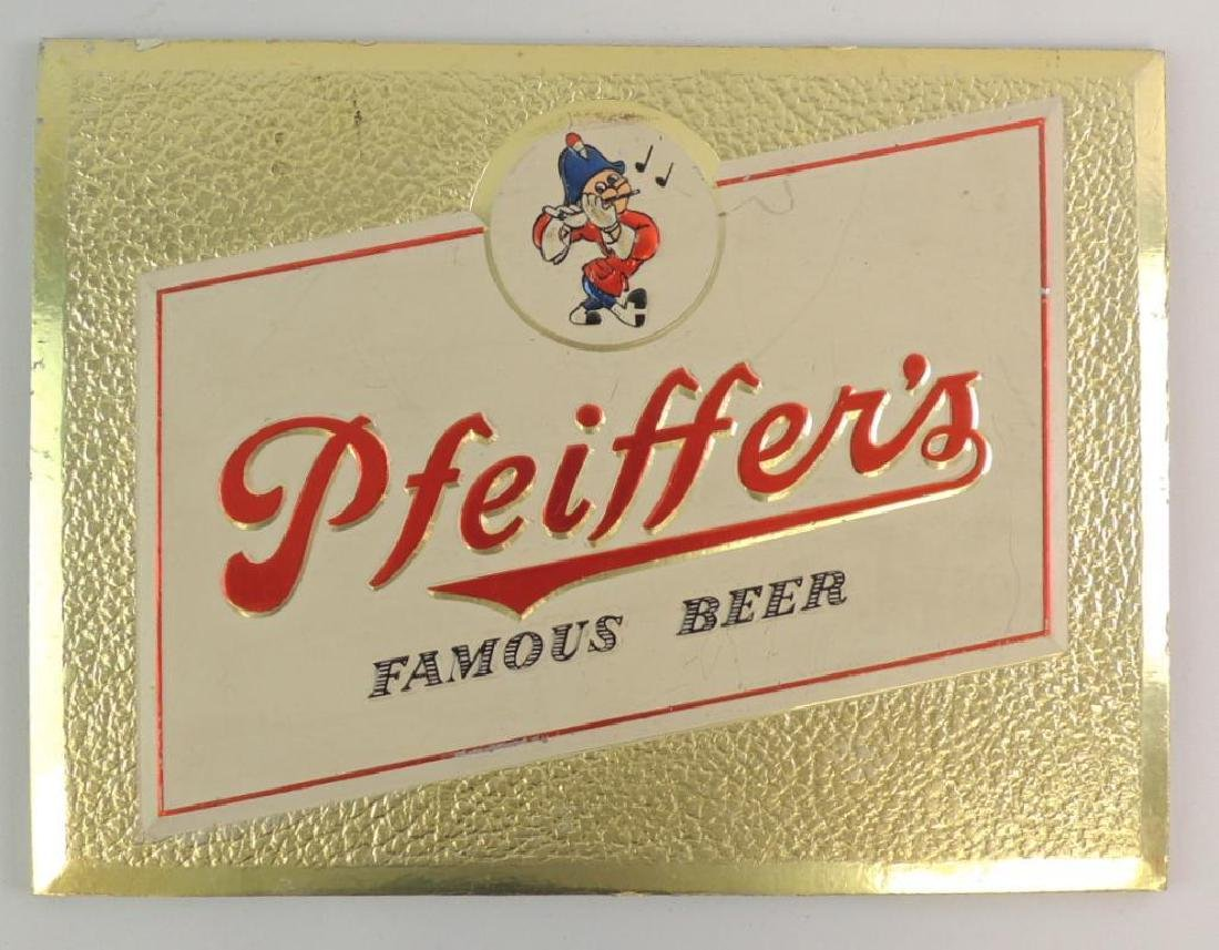 Vintage Pfeiffer's Famous Beer Advertising Sign