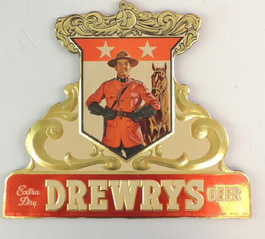Vintage Drewrys Extra Dry Beer Advertising Sign