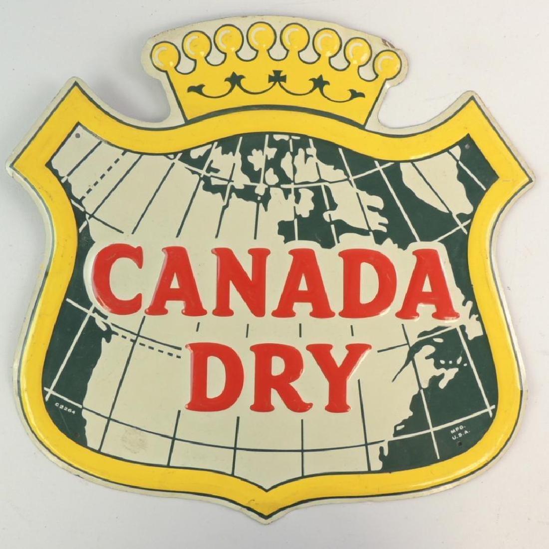 Vintage Canada Dry Advertising Metal Sign