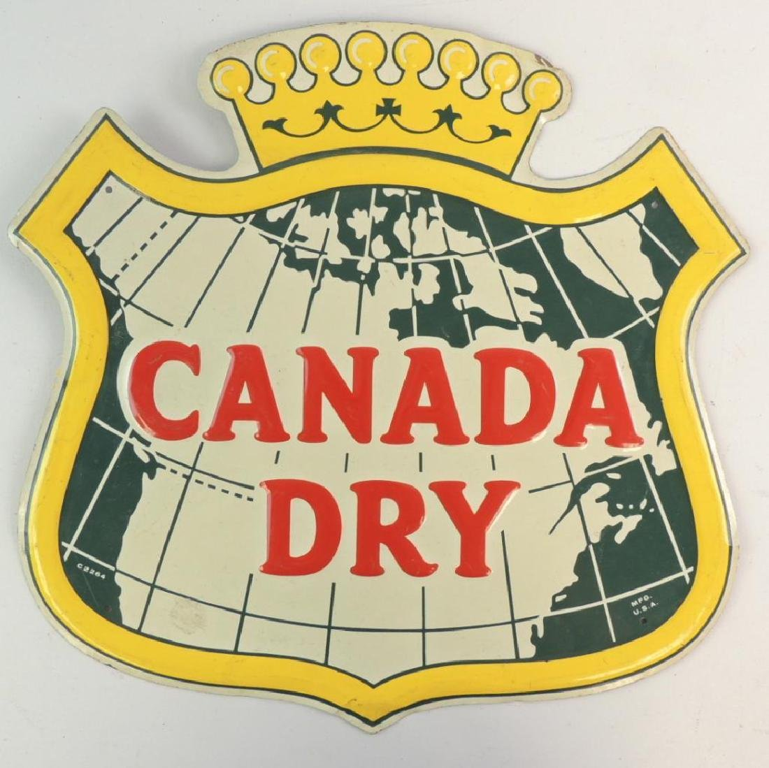 Vintage Canada Dry Advertising Metal Sign