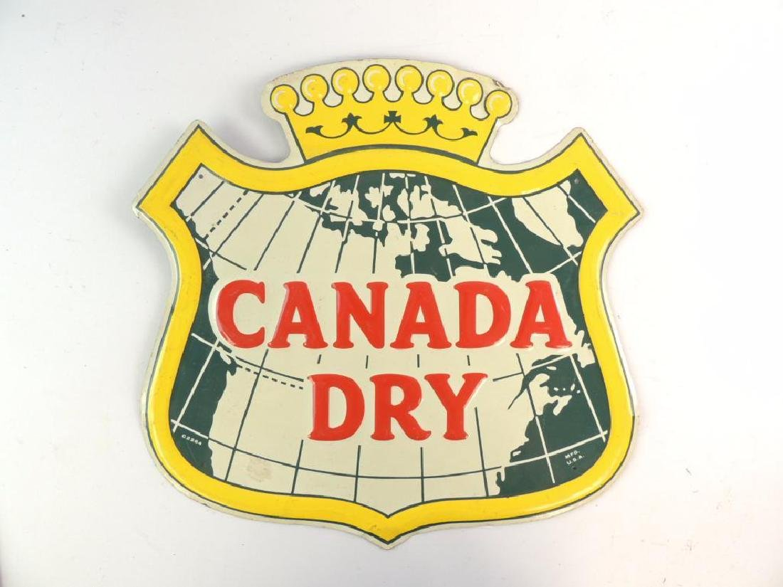 Vintage Canada Dry Advertising Metal Sign - 2