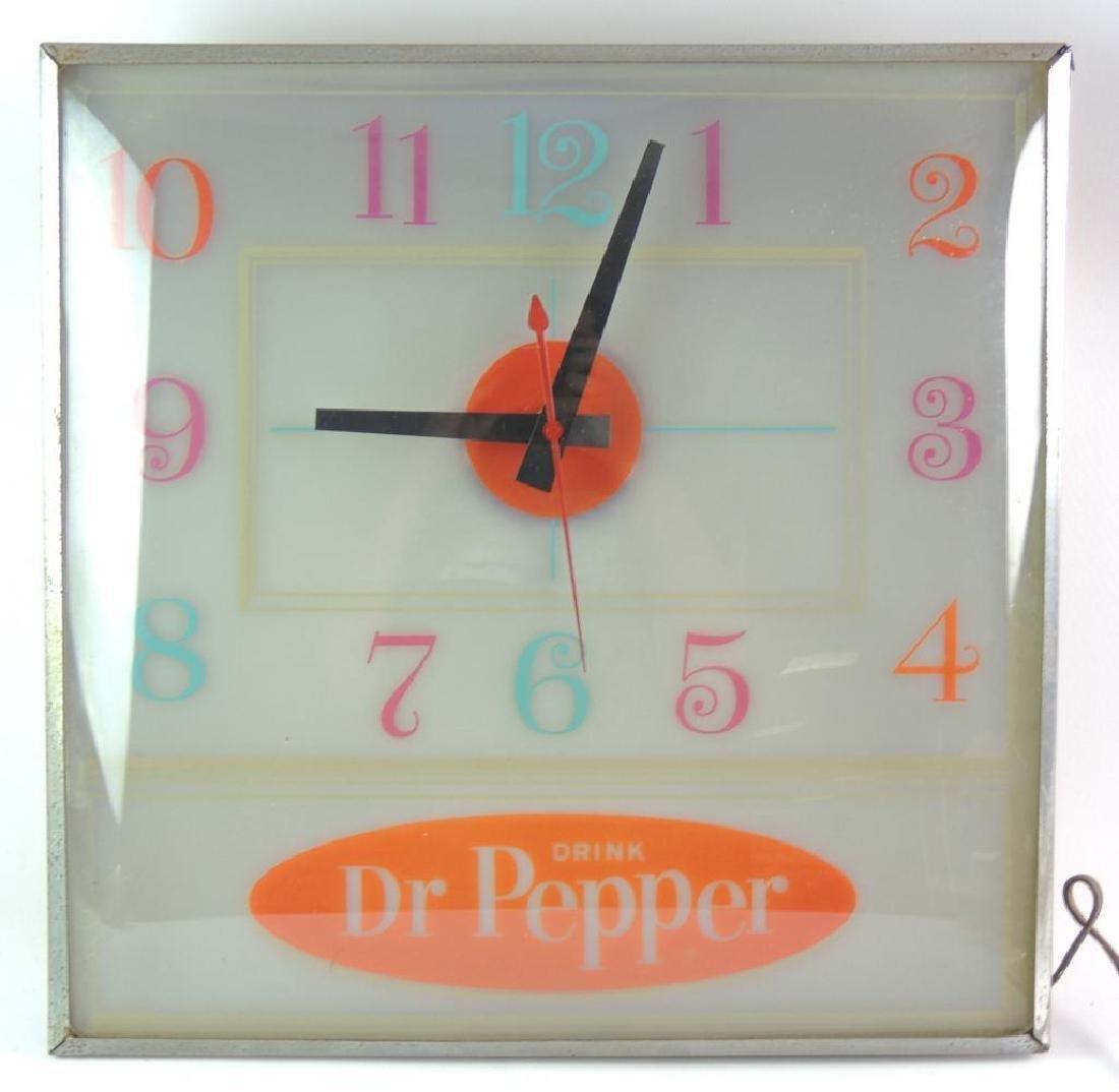 Vintage Dr. Pepper Advertising Light Up Clock