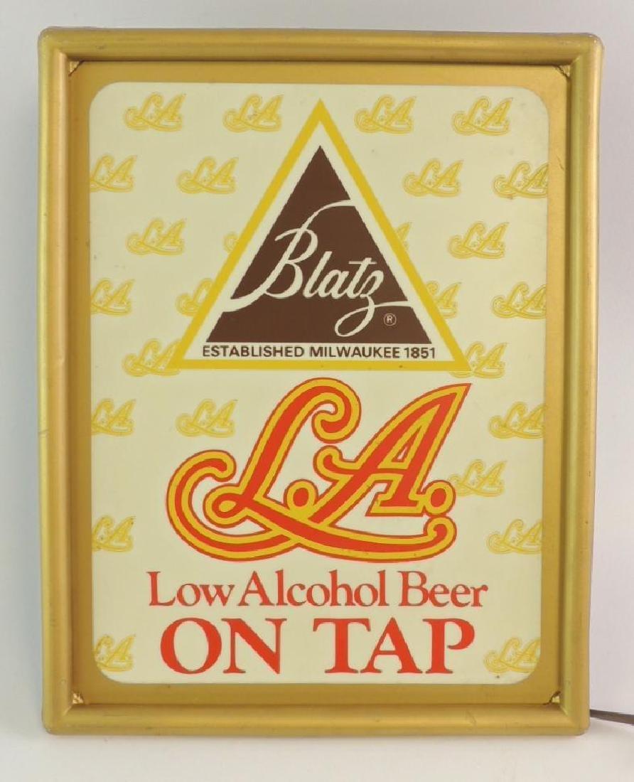 Vintage Blatz Low Alcohol Beer on Tap Advertising Light